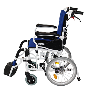 介助式車椅子 コンフォート CAH-20SU 側面(肘跳ね上げ)