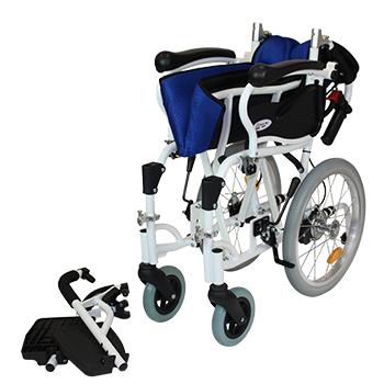 介助式車椅子 コンフォート CAH-20SU 脚部開閉