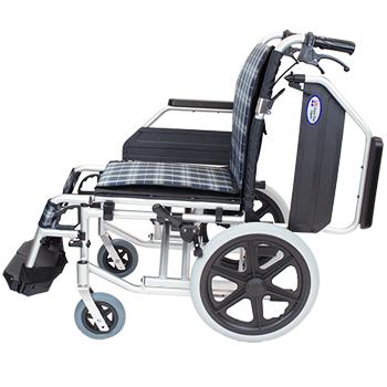 介助式車椅子 コンフォートプレミアム CAH-62SU 側面(肘跳ね上げ)