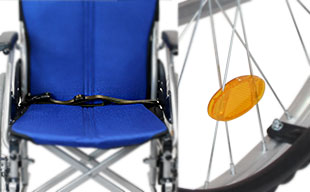 自走式車椅子ハピネス CA-10SU 安全ベルト・反射板