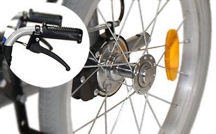 介助式車椅子ハピネス CA-21SU ドラム式ブレーキ