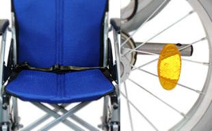 介助式車椅子ハピネス CA-21SU 安全ベルト・反射板