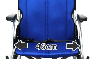 介助式車椅子ハピネスワイド CA-25SU ワイドな46cm座幅
