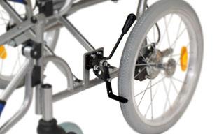 介助式車椅子ハピネスワイド CA-25SU 駐車ブレーキ