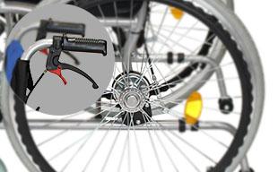 自走式車椅子ハピネスプレミアム CA-32SU ドラム式ブレーキ