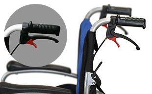自走式車椅子ハピネスプレミアム CA-32SU 手元駐車ロック機能