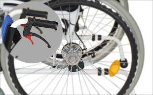 自走式車椅子コンフォート CAH-50SU ドラム式ブレーキ
