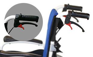 自走式車椅子コンフォート CAH-50SU 手元駐車ロック機能