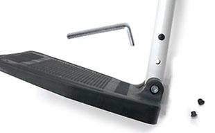 自走式車椅子コンフォート CAH-50SU フットサポート高さ調整機能