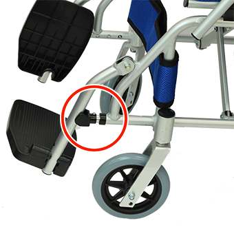 脚部3段階調節機能機能用部品を取付けた状態