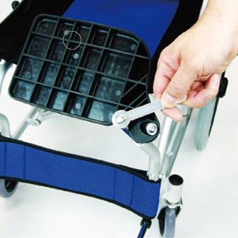車椅子フットプレート裏のボルト