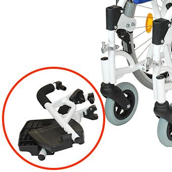 車椅子本体と別梱包の脚部