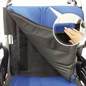 車椅子の背もたれ用シート