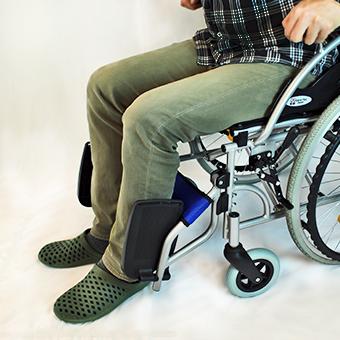 車椅子乗降後のステップ板