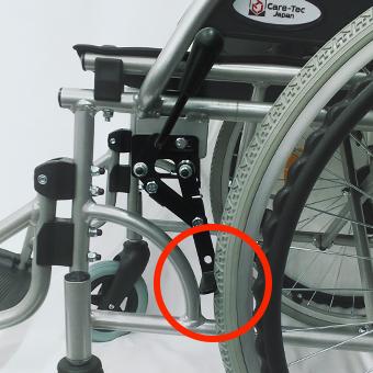 車椅子の駐車用ブレーキロック状態