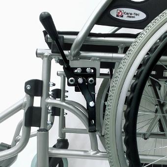車椅子の駐車用ブレーキロック解除状態
