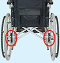 ケアテック式の車椅子ブレーキ