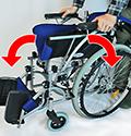 車椅子の拡げ方