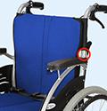 車椅子の背折れ調整
